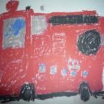イラスト消防車